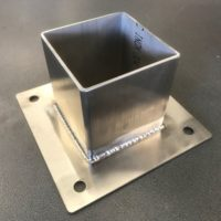 post shoe 100mm stainless steel