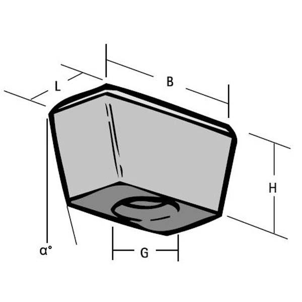 Wedge nut dimensions