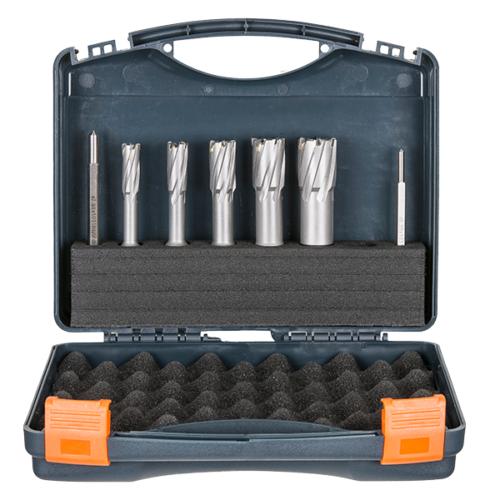 Cutter Set 12,14,18,22,26mm + 2 pilots - 40 TCT HMT-CM