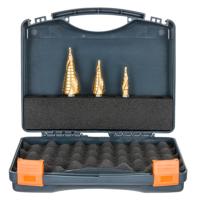 Step Drill Bit Set: 12, 22, 30mm HMT-VD